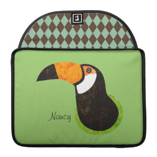 Go Green Toucan Toco Sleeve For MacBooks