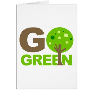 Go Green Tree Card