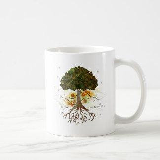 Go Green Tree Classic White Coffee Mug