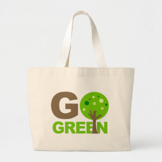 Go Green Tree Large Tote Bag