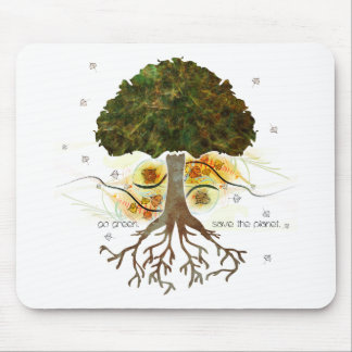 Go Green Tree Mouse Pad