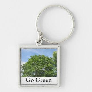 Go Green Trees Keychain