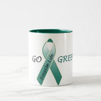 Go Green! Two-Tone Coffee Mug