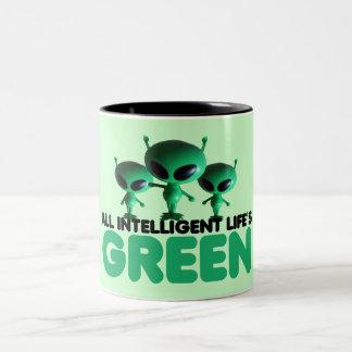 Go green Two-Tone coffee mug