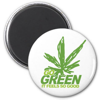 Go Green Weed 2 Inch Round Magnet