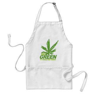 Go Green Weed Adult Apron