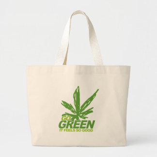 Go Green Weed Canvas Bags