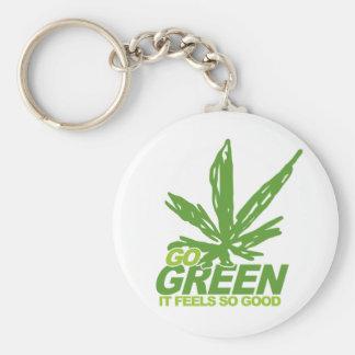 Go Green Weed Keychain