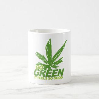 Go Green Weed Classic White Coffee Mug