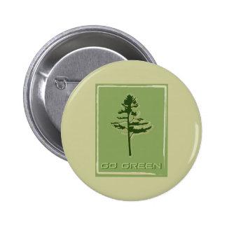 Go Green White Pine Button