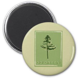 Go Green White Pine Magnet