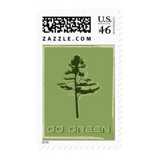 Go Green White Pine Stamp