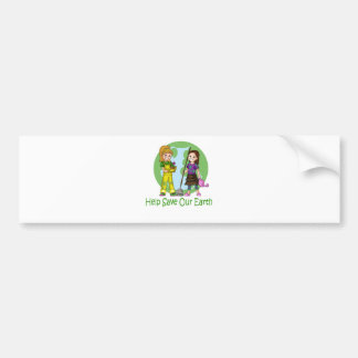 Go Green with Pinky and Peanut Car Bumper Sticker