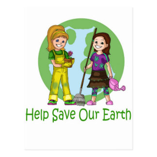 Go Green with Pinky and Peanut Postcard