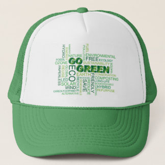 Go Green Word Cloud Hat