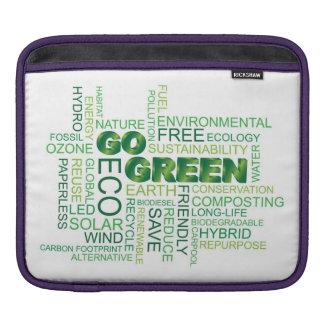 Go Green Word Cloud iPad Sleeve