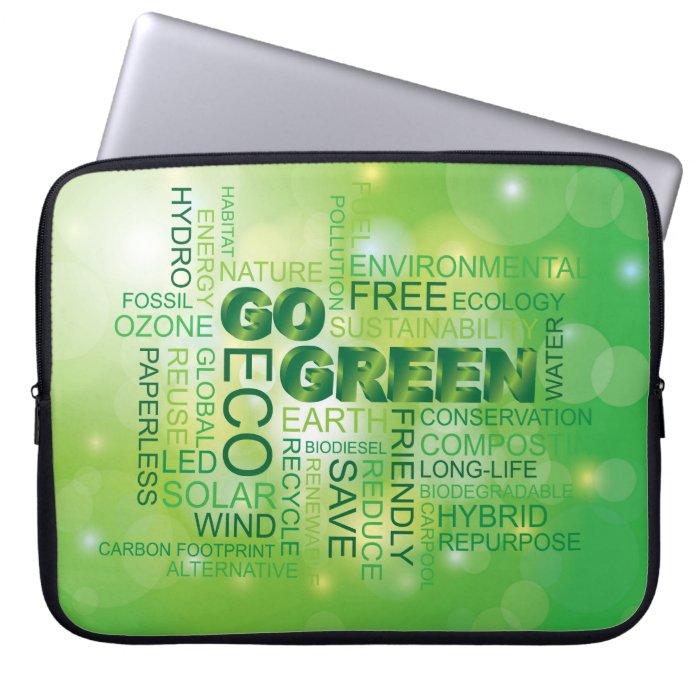 Go Green Word Cloud Laptop Sleeve