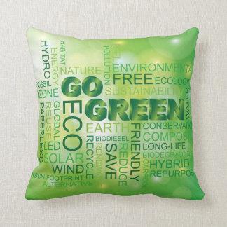 Go Green Word Cloud Pillow