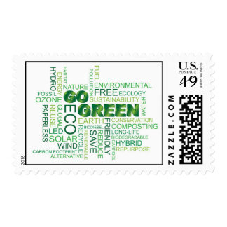Go Green Word Cloud Postage