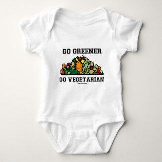 Go Greener Go Vegetarian (Vegetarian Saying) Baby Bodysuit