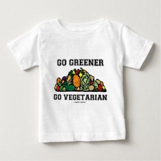 Go Greener Go Vegetarian (Vegetarian Saying) Baby T-Shirt