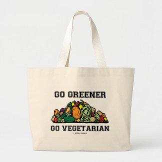 Go Greener Go Vegetarian (Vegetarian Saying) Canvas Bags
