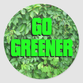 Go Greener Stickers
