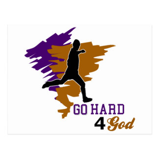 Go Hard 4 God Postcard