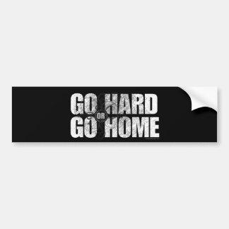 Go Hard or Go Home Car Bumper Sticker