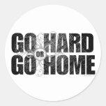 Go Hard or Go Home Classic Round Sticker