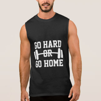 Go Hard Or Go Home fitness gym tank top for men