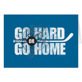 Go Hard or Go Home (Hockey) Card
