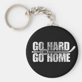 Go Hard or Go Home (Hockey) Keychain