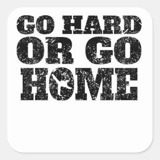 Go Hard Or Go Home Karate Square Sticker