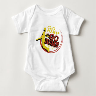 Go Hard or Go Home - Sporty Slang Baby Basketball  T Shirt