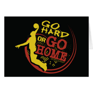 Go Hard or Go Home - Sporty Slang Basketball Card