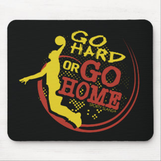 Go Hard or Go Home - Sporty Slang Basketball Mouse Mouse Pad