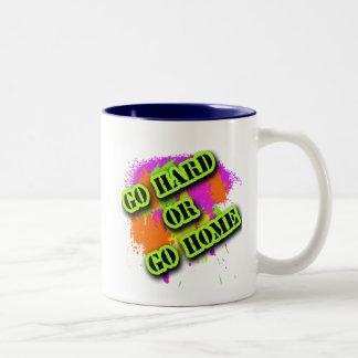 Go Hard or Go Home Tshirts Two-Tone Coffee Mug