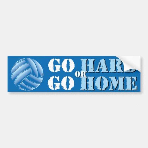 Go Hard or Go Home Vball Bumper Stickers