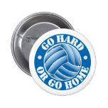 Go Hard or Go Home Vball Buttons