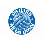 Go Hard or Go Home Vball Postcard
