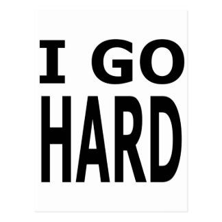 GO HARD POSTCARD