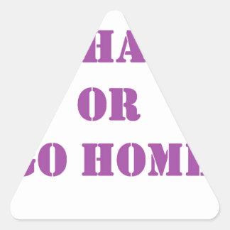 Go hard- purple.jpg triangle sticker