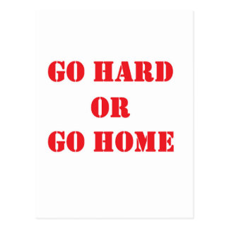 Go hard- red.jpg postcard
