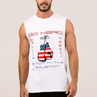 Go harder Men's Sleeveless Boxing T-shirt