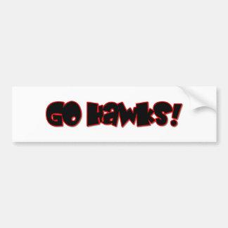 Go Hawks! Bumper Sticker