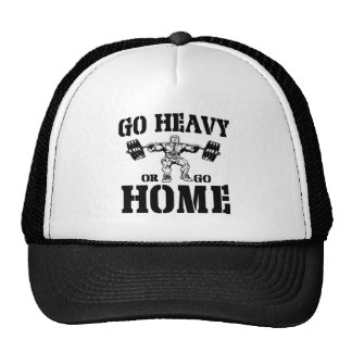 Go Heavy Or Go Home Weightlifting Trucker Hat