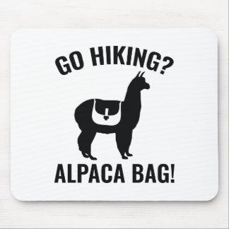 Go Hiking? Alpaca Bag! Mouse Pad