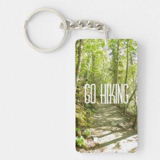 Go Hiking Double-Sided Rectangular Acrylic Keychain