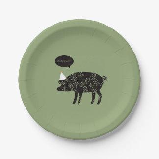 Go Hog Wild! Paper Plate
